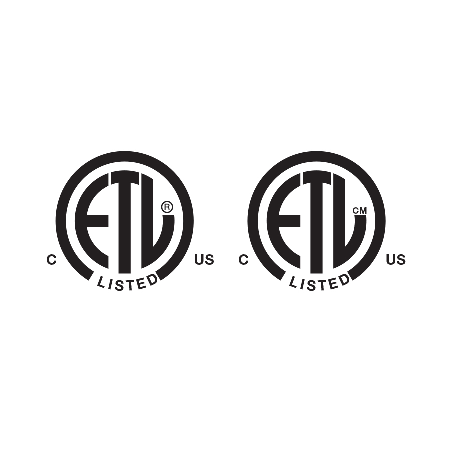 "Two Circles that have ""ETL"" in them, graphic created by Industrial Nameplate"